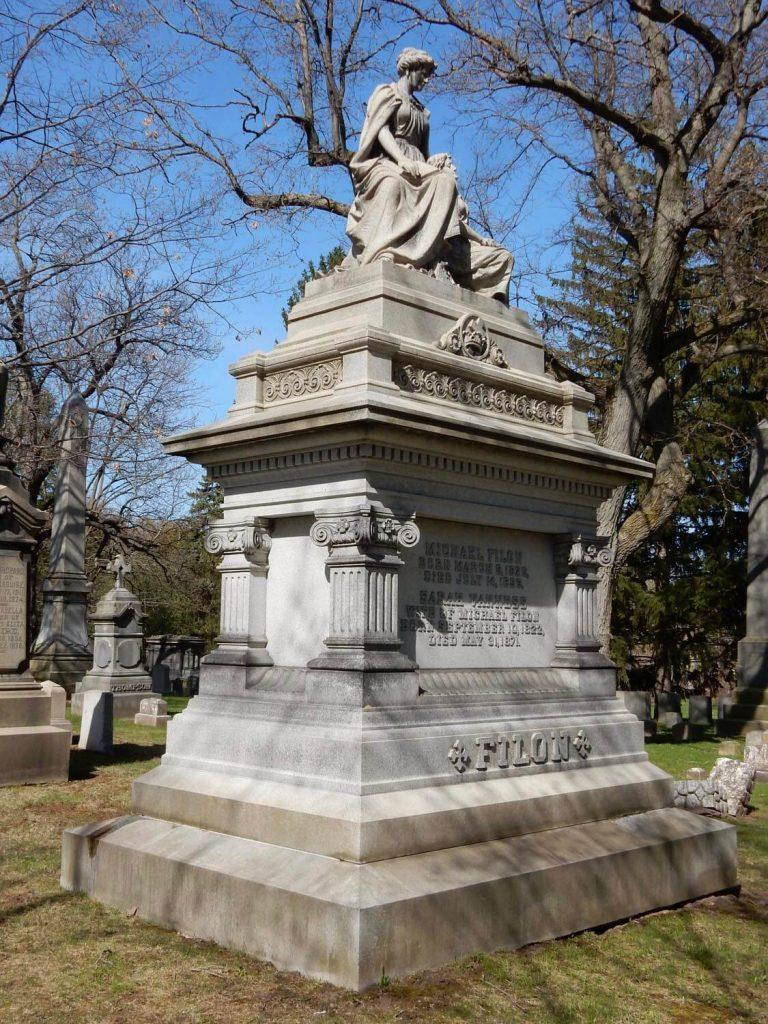 Filon Monument photo by Don Hall Mount Hope Cemetery