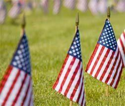 Memorial Day Flags Mount Hope Cemetery