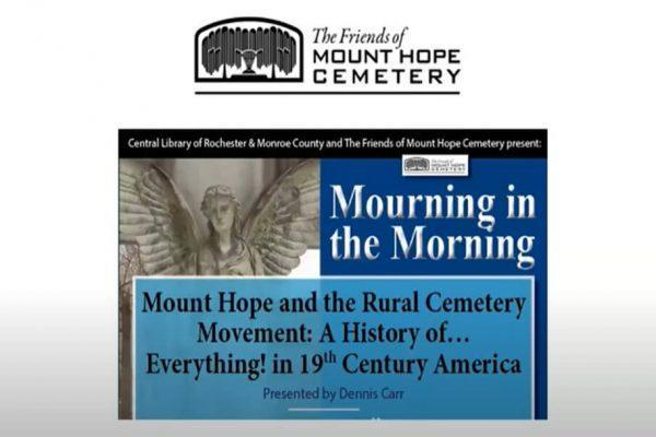 mount hope & the rural cemetery movement mourning in the morning