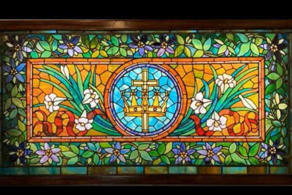 strong mausoleum stained glass repair mount hope moments