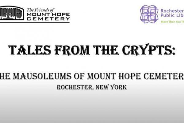 tales from the crypts the mausoleums of mount hope cemetery