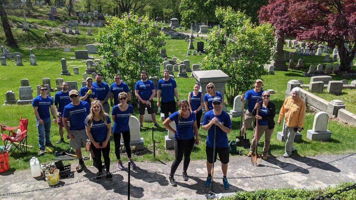 Volunteers at Mount Hope Cemetery
