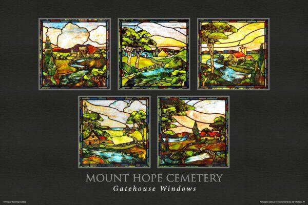 Gatehouse Windows Poster Mount Hope Cemetery