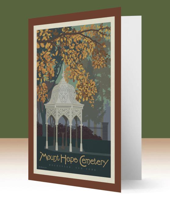 Gazebo Note Card Mount Hope Cemetery