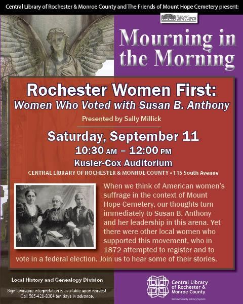 Women who voted with Susan B. Anthony - presentation