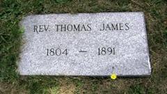 Rev. Thomas James gravestone