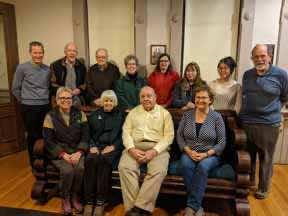 FOMH Trustees at sofa dedication