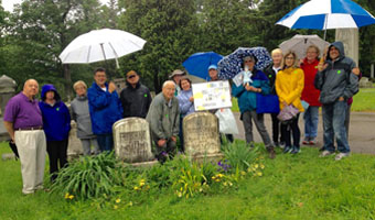 Jewish Roots tour group on a rainy day