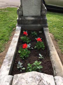 planted cradle grave garden