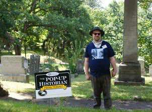 volunteer popup historian Mitch Jones